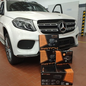 Установка комплекта Premium Sound Ultra Plus на Mеrcedes GLS до 2018